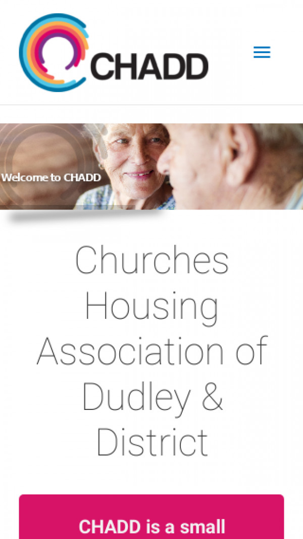Mobile screenshot of Churches Housing Assocation of Dudley and District Limited website