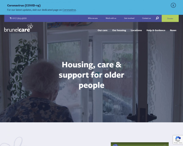 Desktop screenshot of Brunelcare website