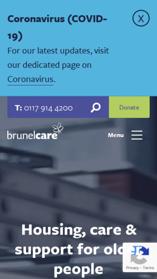 Mobile screenshot of Brunelcare website