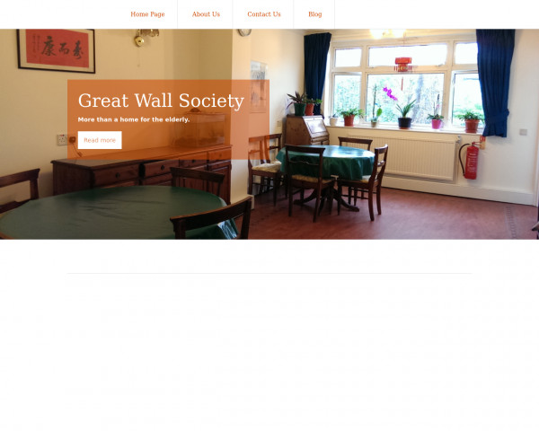 Desktop screenshot of Great Wall Society Limited website