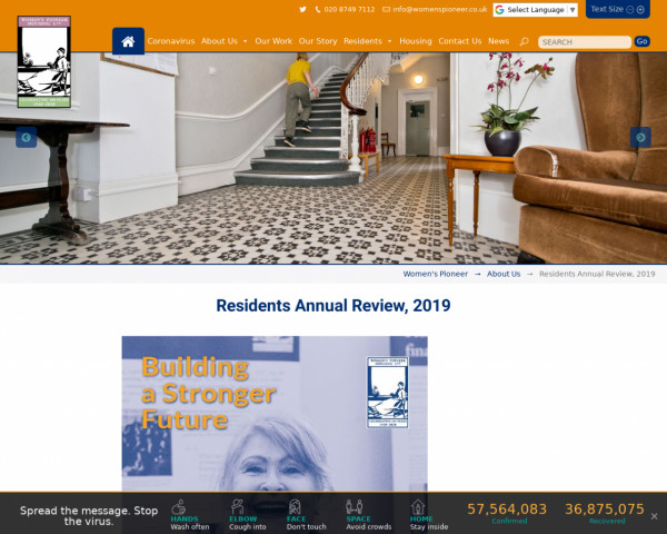 Screenshot of Residents Annual Review, 2019   Women's Pioneer