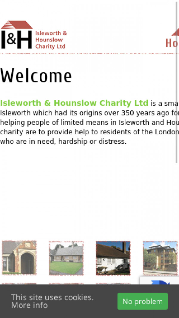 Mobile screenshot of Isleworth and Hounslow Charity Limited website
