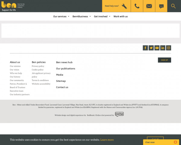 Screenshot of Beaver test | Ben Support for life for the Automotive Industry
