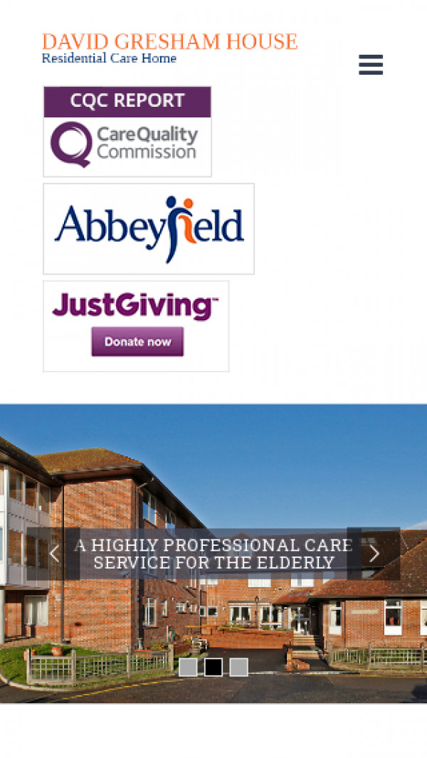 Mobile screenshot of The Abbeyfield North Downs Society Limited website