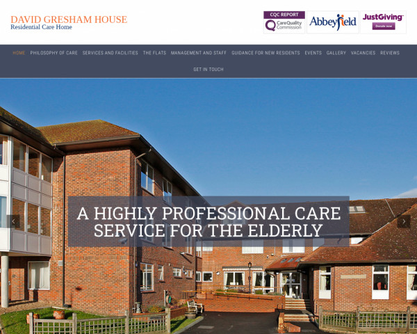 Desktop screenshot of The Abbeyfield North Downs Society Limited website