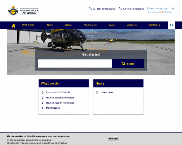 Screenshot of National Police Air Service - NPAS