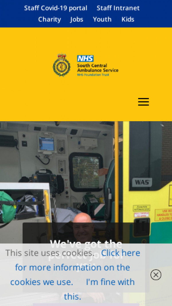 Mobile screenshot of South Central Ambulance Service NHS Foundation Trust website
