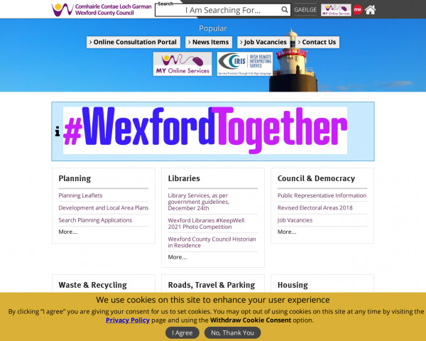 Screenshot of Wexford County Council