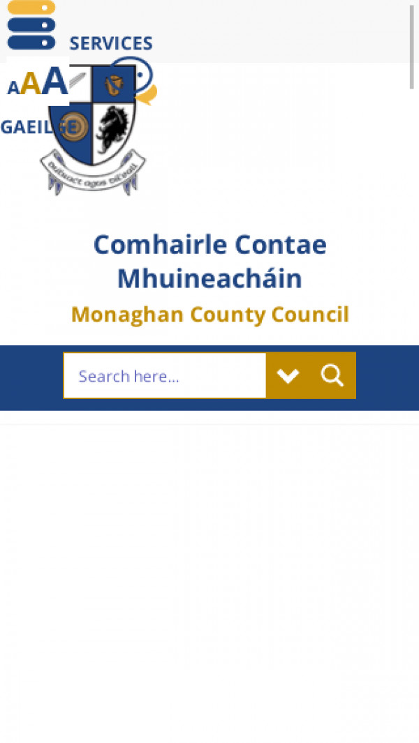 Mobile screenshot of Monaghan County Council website