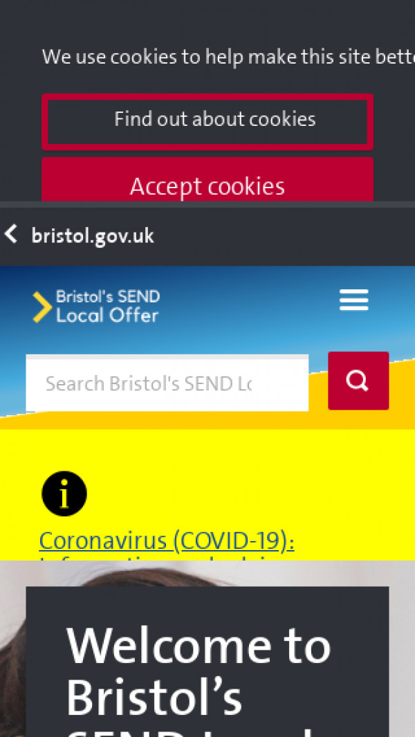 Mobile screenshot of Bristol, City of website
