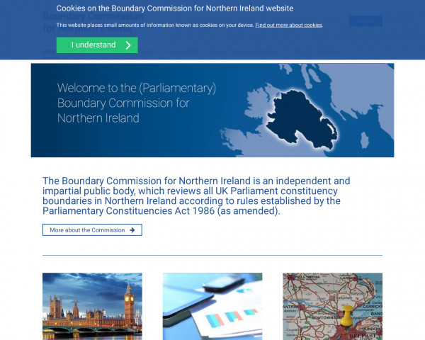 Desktop screenshot of Boundary Commission for Northern Ireland website