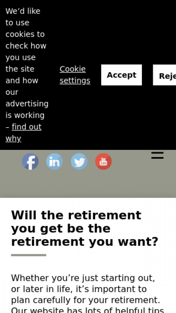Mobile screenshot of Your State Pension website