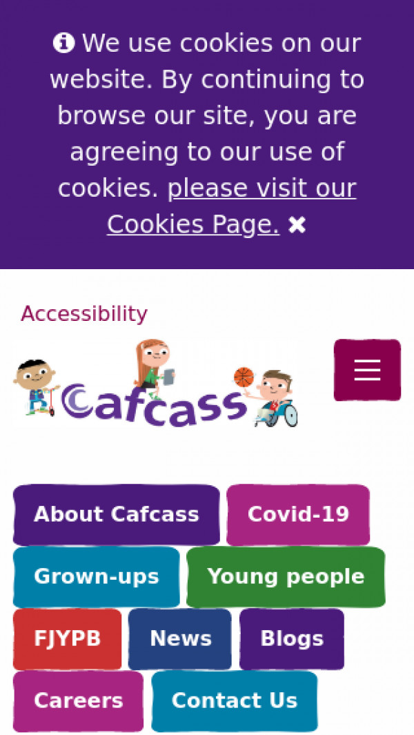 Mobile screenshot of Children & Family Court Advisory and Support Service website