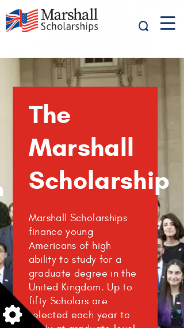 Mobile screenshot of Marshall Aid Commemoration Commission website