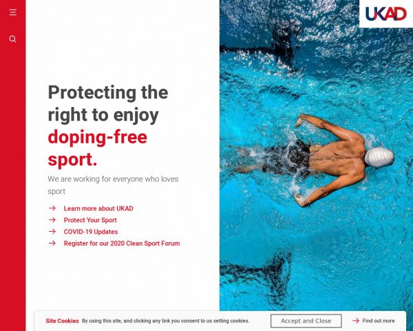 Desktop screenshot of UK Anti-Doping website
