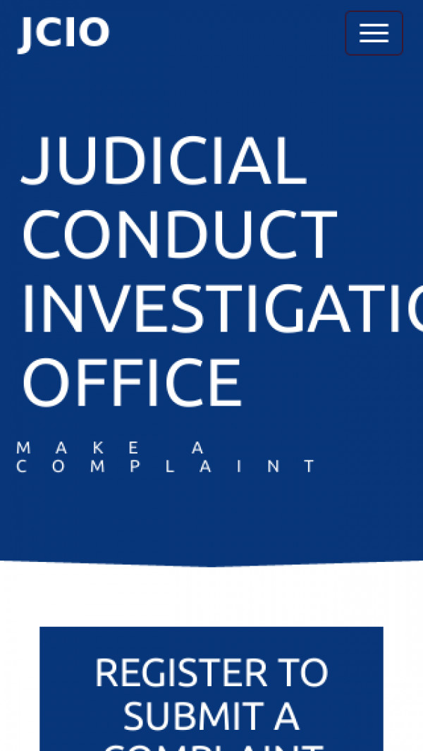 Mobile screenshot of Judicial Conduct Investigations Office website