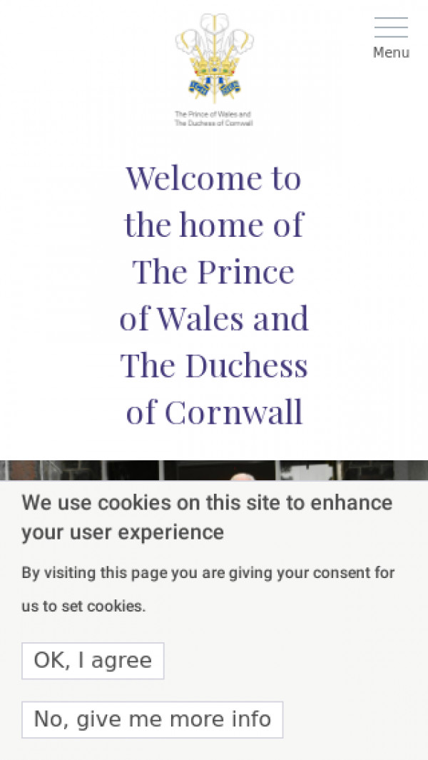 Mobile screenshot of Prince of Wales website
