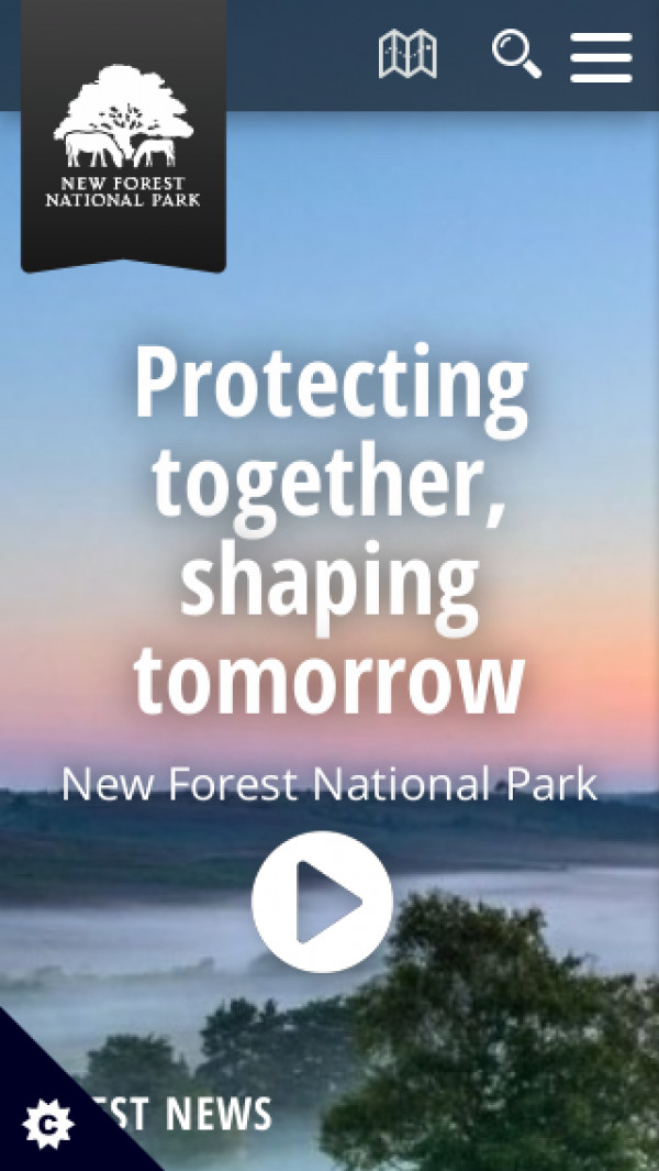 Mobile screenshot of New Forest National Park Authority website