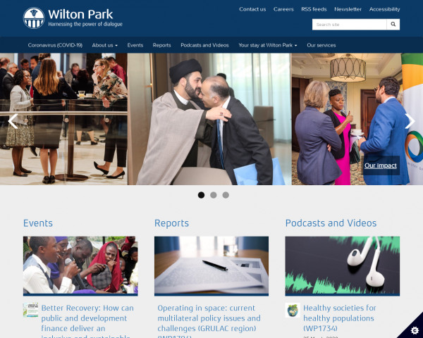 Desktop screenshot of Wilton Park website