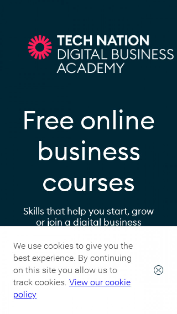Mobile screenshot of Digital Business Academy website