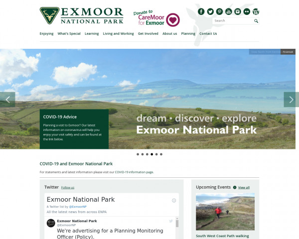 Screenshot of Exmoor - Welcome to Exmoor National Park