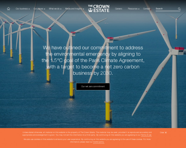 Desktop screenshot of Crown Estate website