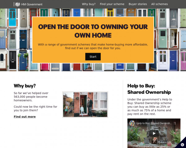 Desktop screenshot of Own your home website