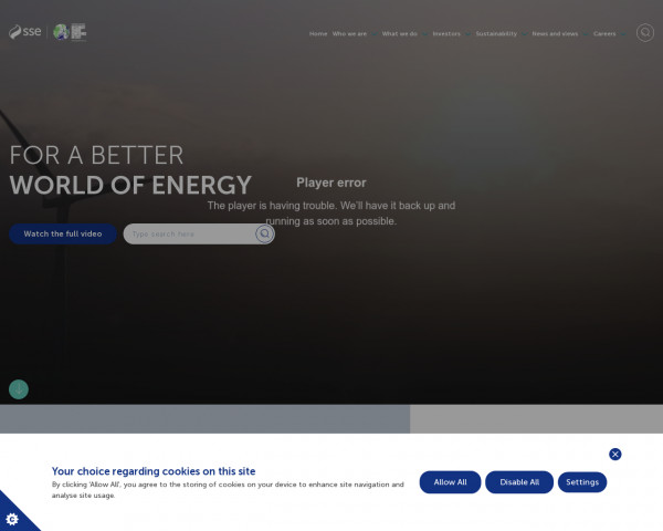 Screenshot of For a better world of energy | SSE