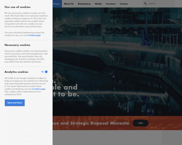 Desktop screenshot of Hammerson website