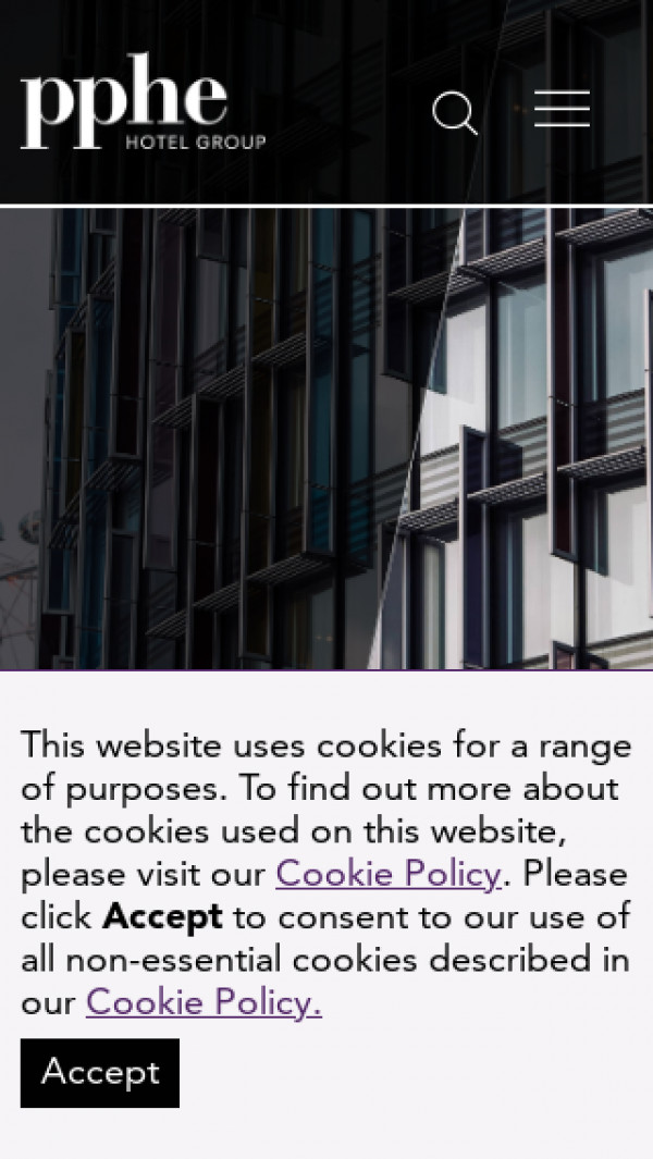 Mobile screenshot of PPHE Hotel Group website
