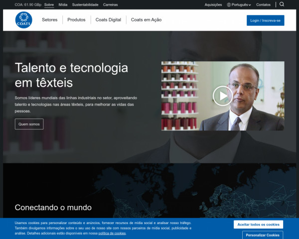 Screenshot of Sobre - Coats