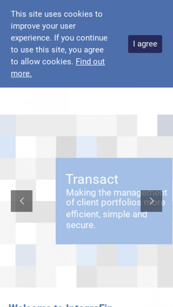 Mobile screenshot of IntegraFin Holdings website
