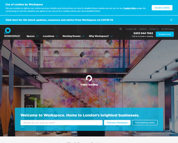 Screenshot of Workspace: Flexible, Inspiring Space To Grow Your Business