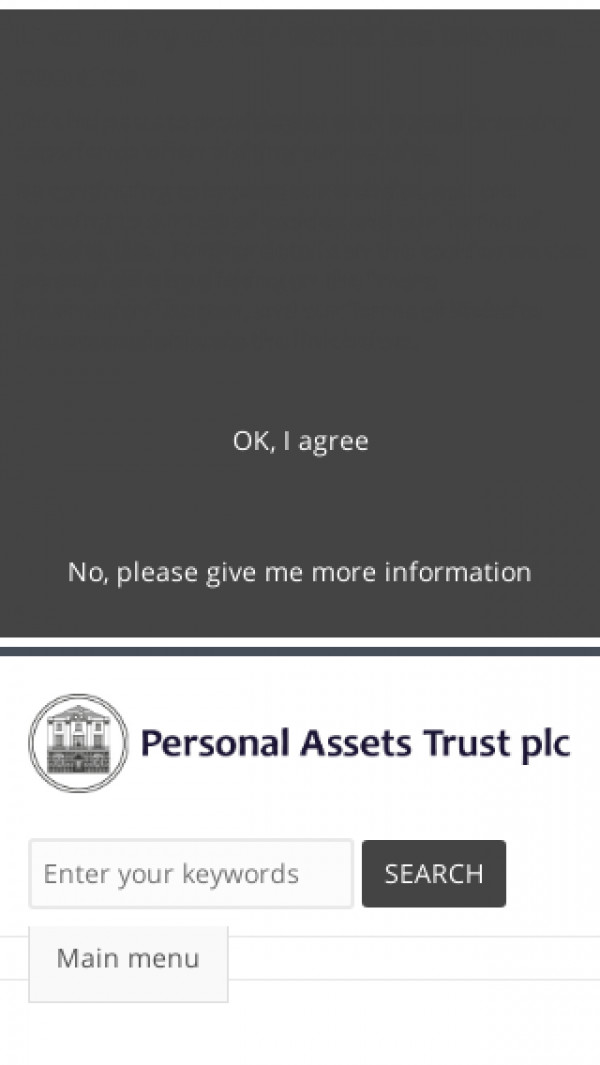 Mobile screenshot of Personal Assets Trust PLC website