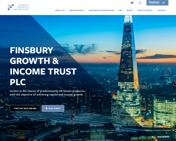 Screenshot of Finsbury Growth & Income Trust PLC