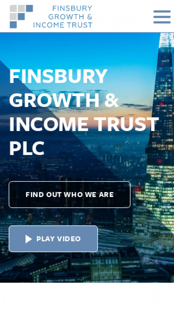 Mobile screenshot of Finsbury Growth & Income Trust website
