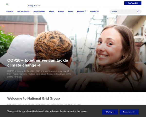 Screenshot of Welcome to National Grid Group | National Grid Group