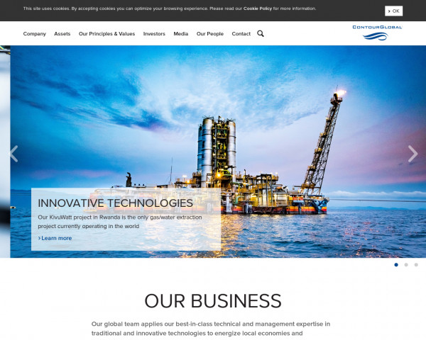 Desktop screenshot of ContourGlobal website