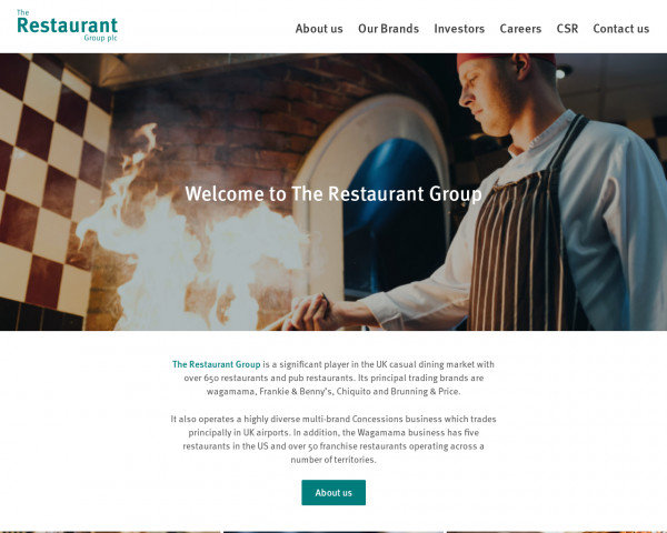 Screenshot of Welcome to The Restaurant Group - The Restaurant Group plc