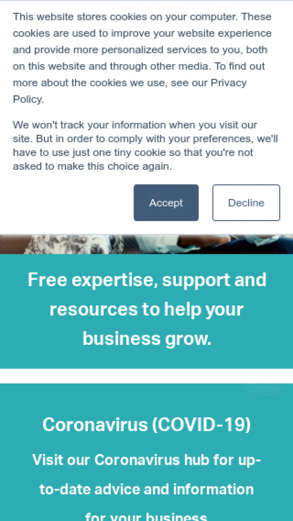 Mobile screenshot of York and North Yorkshire Growth Hub website