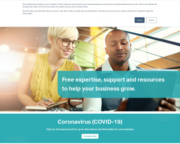 Screenshot of Free support for businesses in York & North Yorkshire | Y&NY Growth Hub