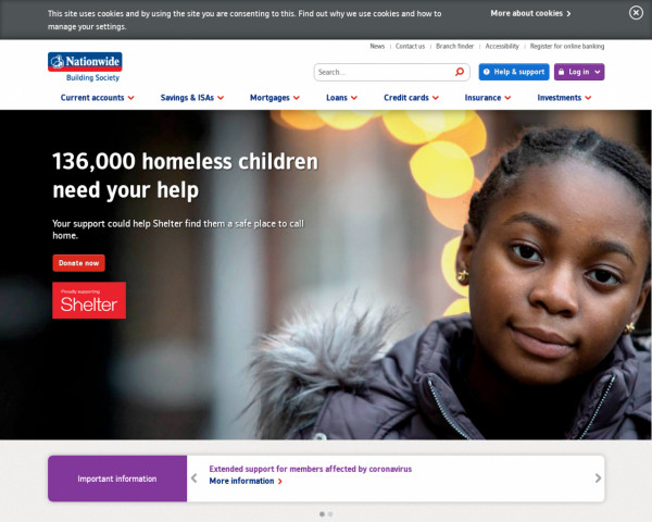 Screenshot of Nationwide Building Society