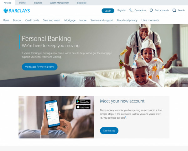 Screenshot of Barclays Bank