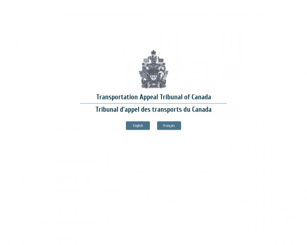 Screenshot of Transportation Appeal Tribunal of Canada