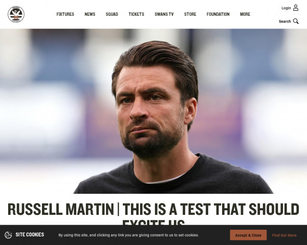 Screenshot of Russell Martin | This is a test that should excite us | Swansea