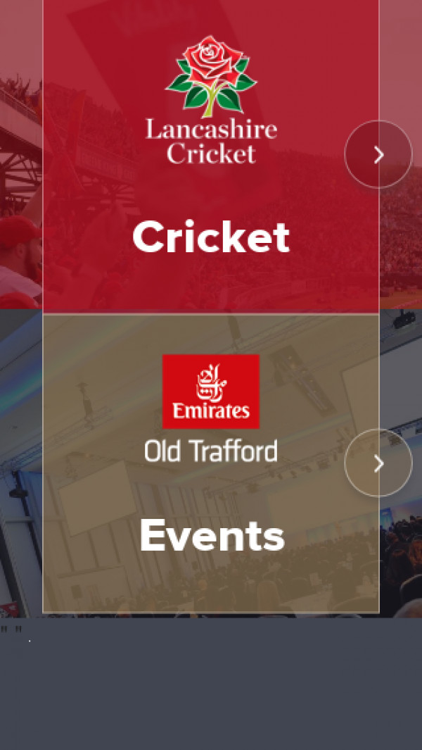 Mobile screenshot of Lancashire County Cricket website