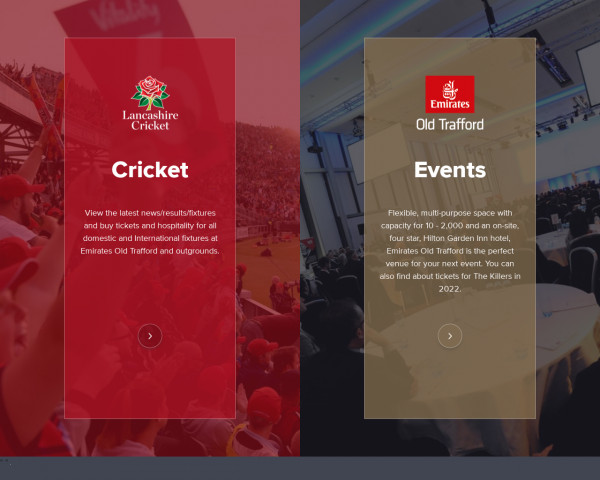 Desktop screenshot of Lancashire County Cricket website