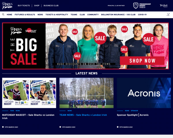 Screenshot of Sale Sharks