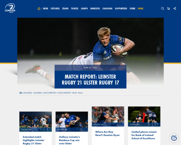 Screenshot of Leinster Rugby