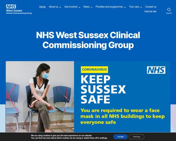 Screenshot of NHS West Sussex Clinical Commissioning Group - NHS West Sussex CCG